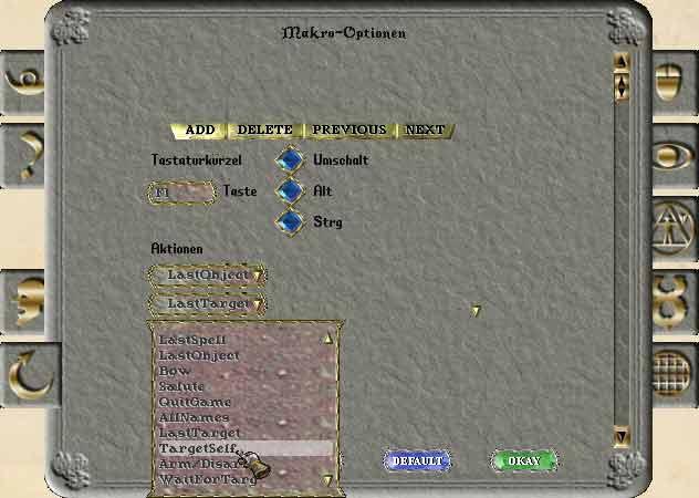 Ultima Online Makros definieren